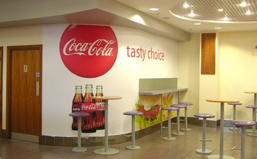 Airport Restaurant Wall Display