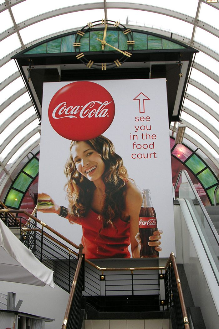 Airport large poster display